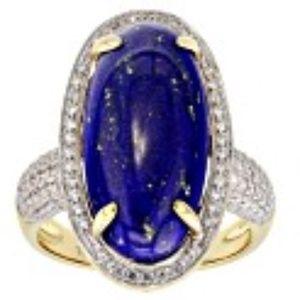 Blue Lapis Lazuli 10k Yellow Gold Ring .73ctw